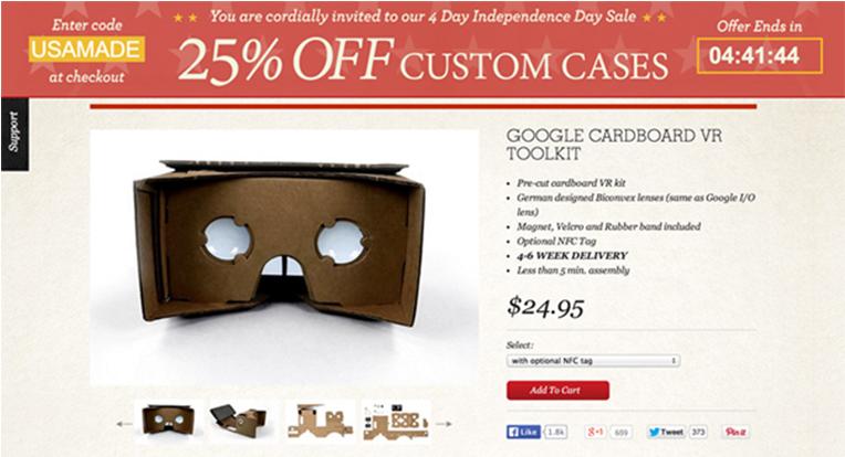 谷歌探索性VR产品