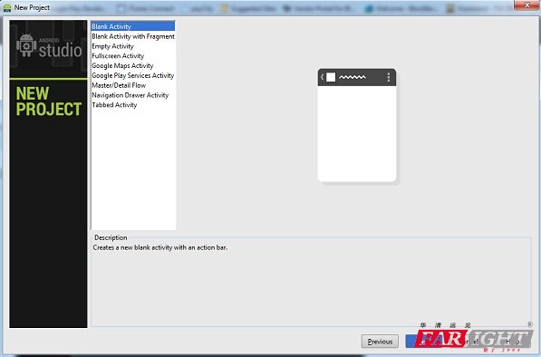 Android studio入门:新建项目3